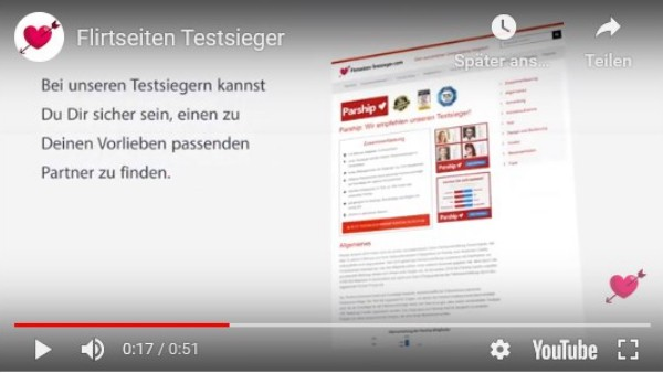 Flirtseiten-Testsieger-Video