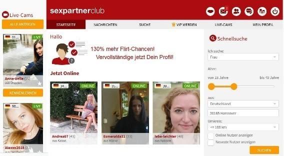 SexpartnerClub.at - Mitgliederbereich