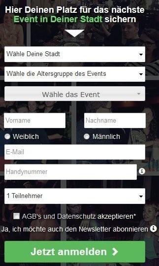 SocialMatch.de - Anmeldung