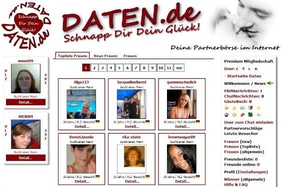 Daten.de - Mitgliederbereich