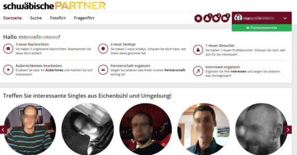 Der Mitgliederbereich auf Partner.Schwaebische.de