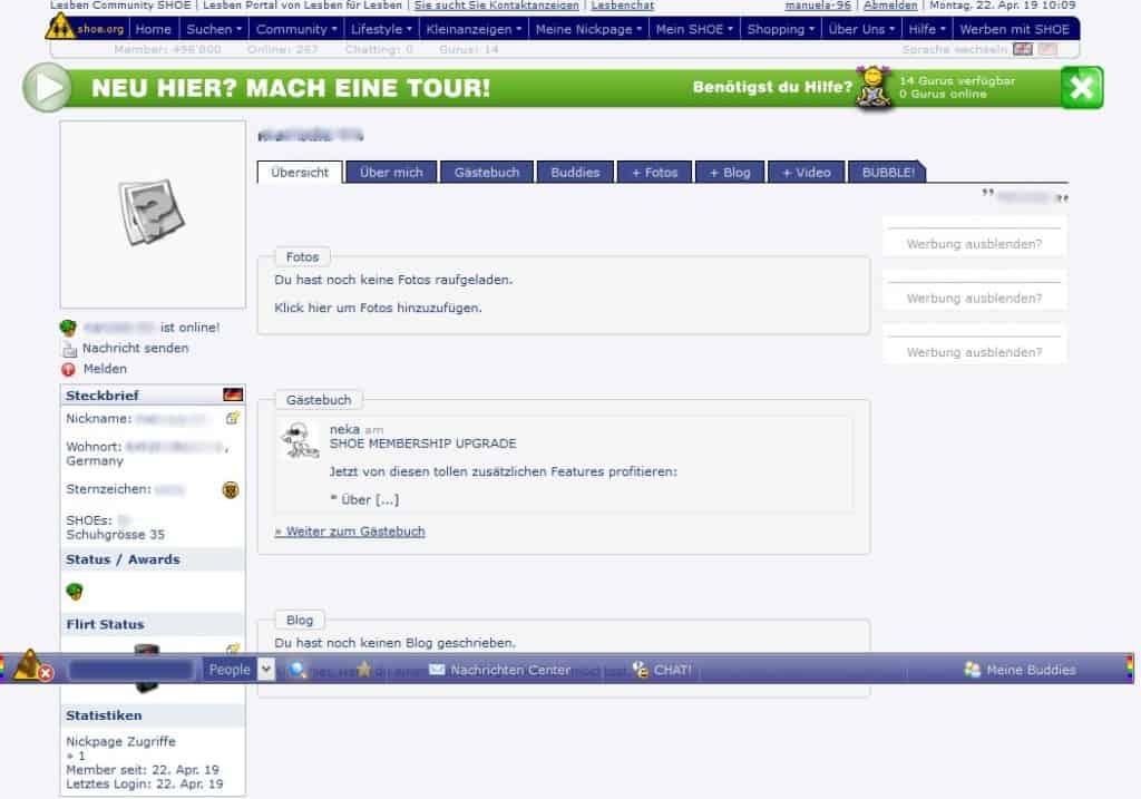 Shoe.org - Mitgliederbereich