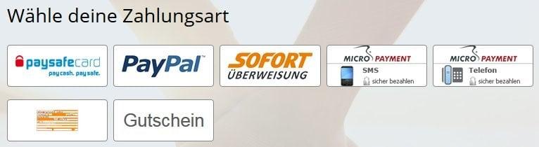 Zahlungsmöglichkeiten auf HeartBuddie.de