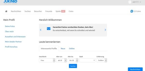 Anmeldung bei Jukinio.de