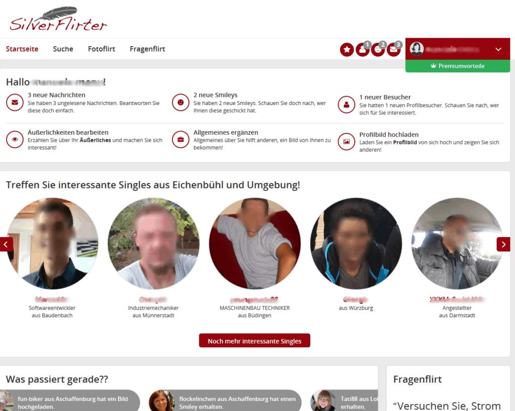 Silverflirter.de - Mitgliederbereich