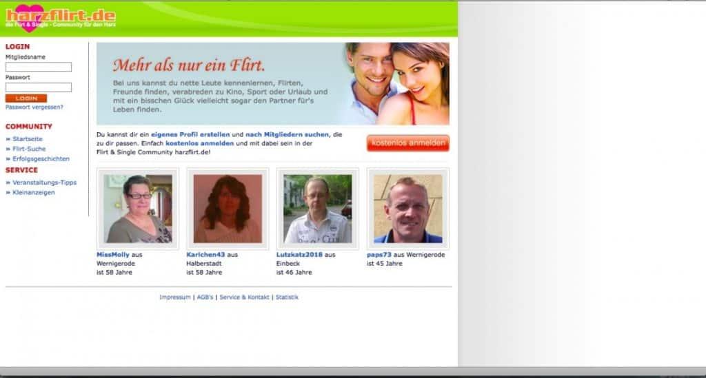 Testbericht: harzflirt.de
