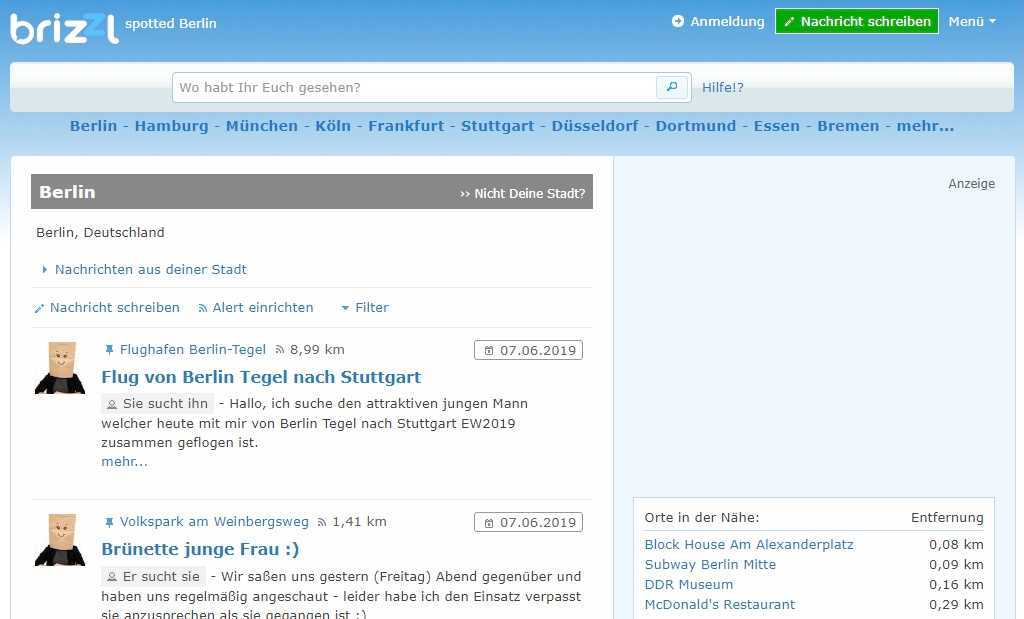 Testbericht: brizzl.de