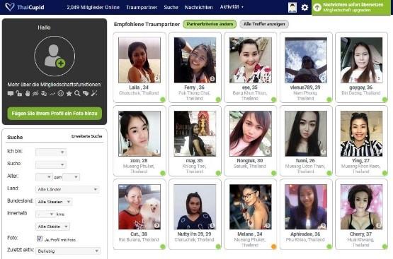 ThaiCupid.com - Mitgliederbereich