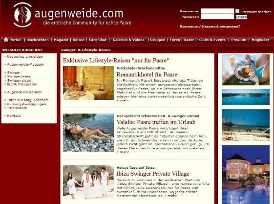 augenweide.com - Mitgliederbereich
