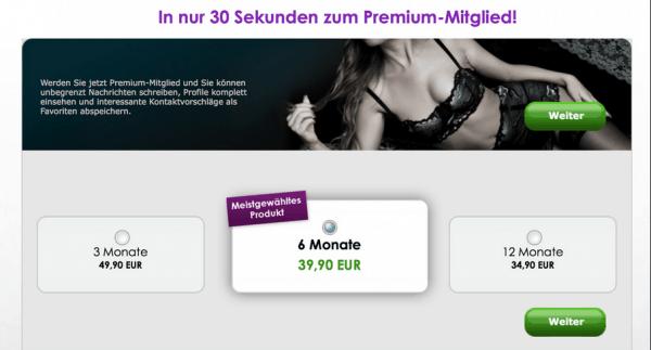 cDate - Die Preise für Premium-Mitgliedschaft