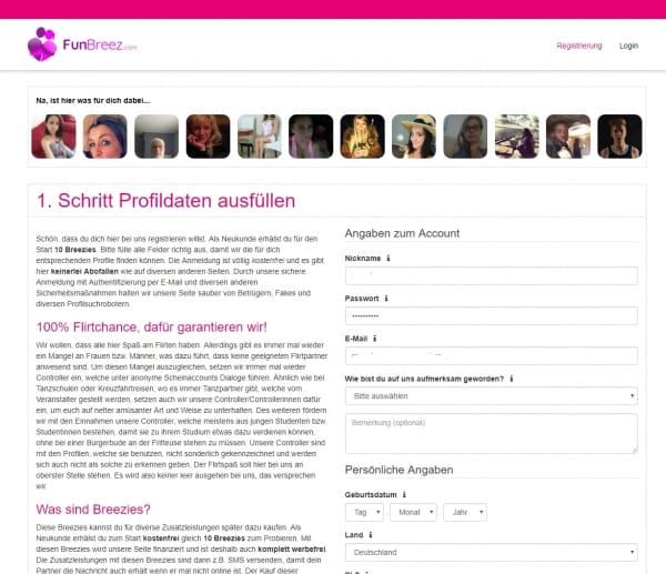 funbreez.com - Anmeldung