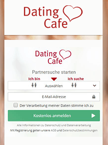 Screenshot von DatingCafe