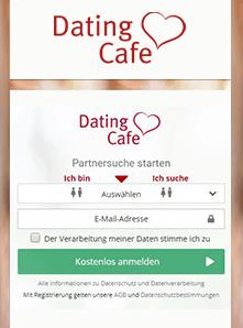 Screenshot von DatingCafe