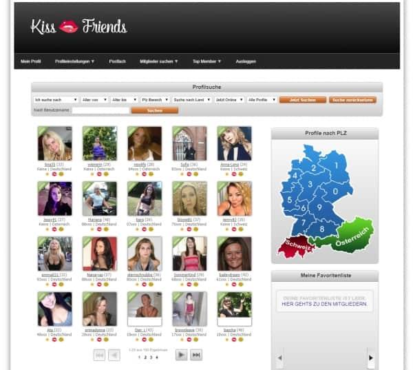 kissfriends - Anmeldung