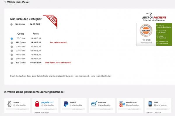 Die Preise auf Lisario.de