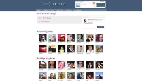 lustflirter.com - Mitgliederbereich