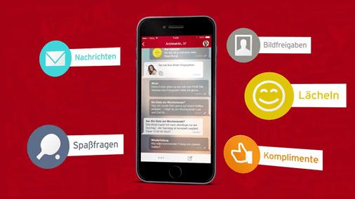 Screenshot der Parship-App