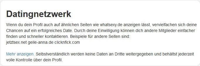 whatsexy datingnetzwerk