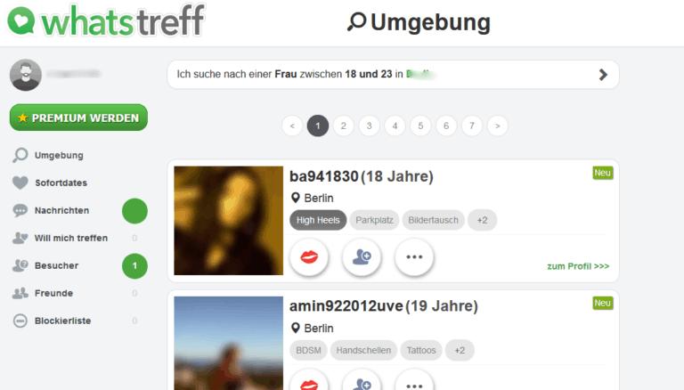 WhatsTreff.de Mitgliederbereich