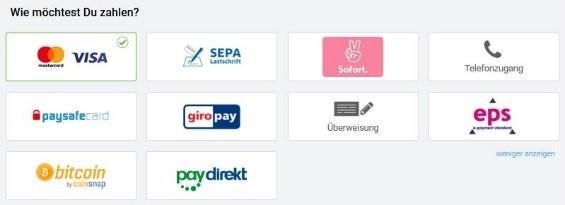 zwinkr.de - Zahlungsmöglichkeiten