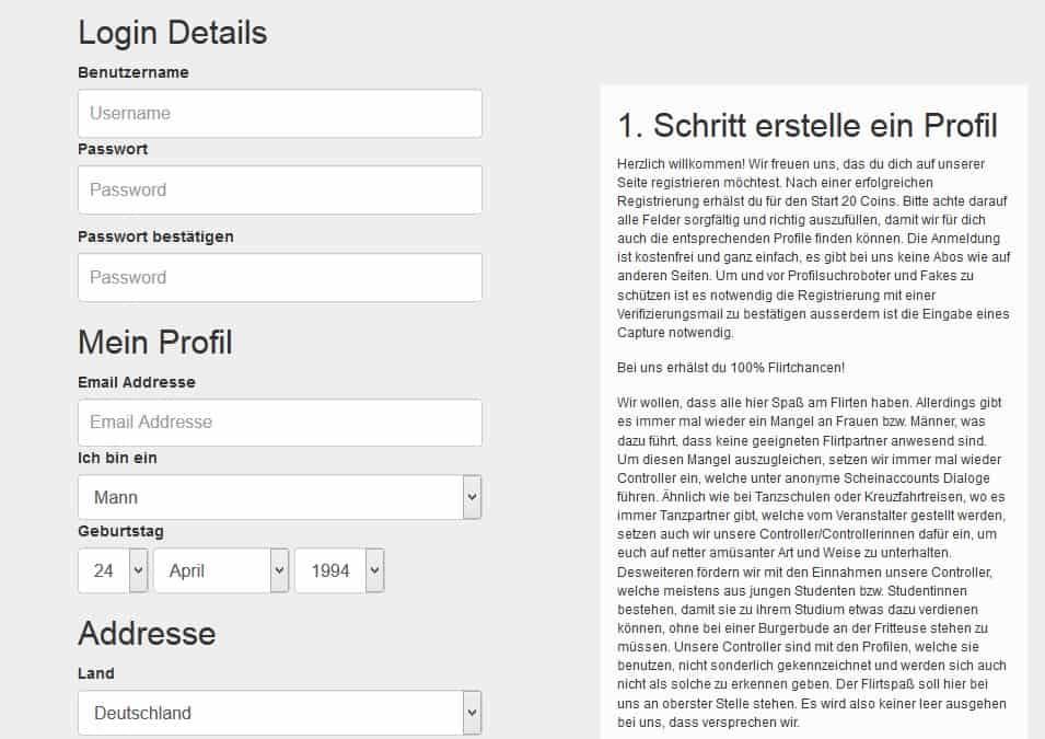 Anmeldung auf Luuloo.de