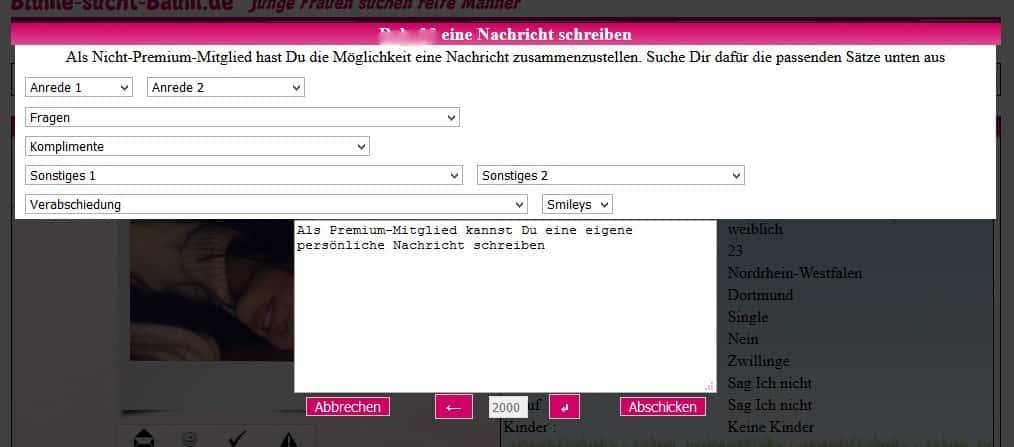 Blume-sucht-Baum.de - Nachricht senden