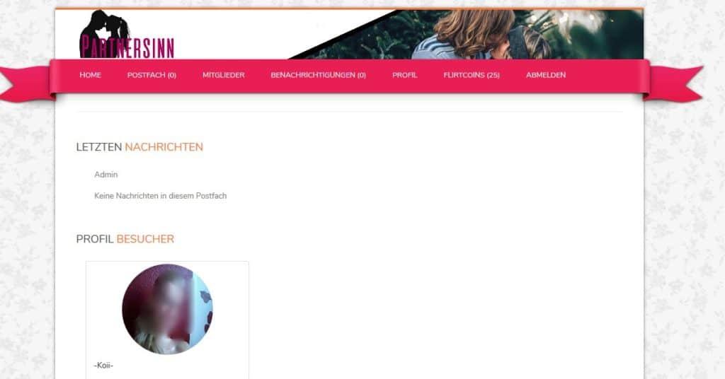 Das eigene Profil auf Partnersinn.de