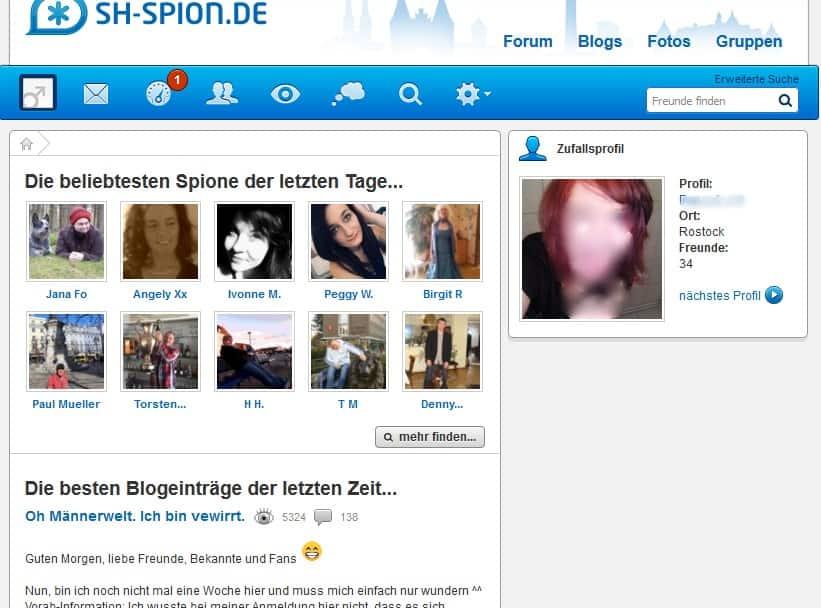 Der Mitgliederbereich von SH-Spion.de