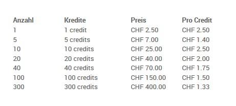 Die Preise auf FlirtsUndAbenteuer.com