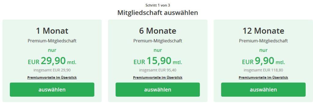 Die Preise auf Single-emsland.de