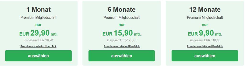 Die Preise auf Single.infranken.de