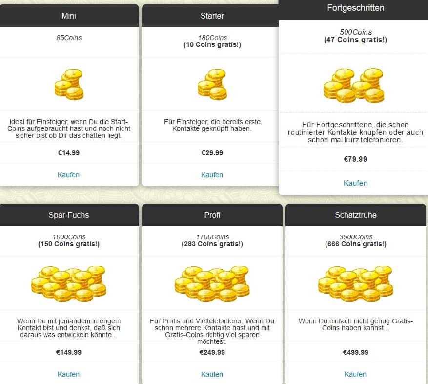 Die Preise von Flirtherz.com