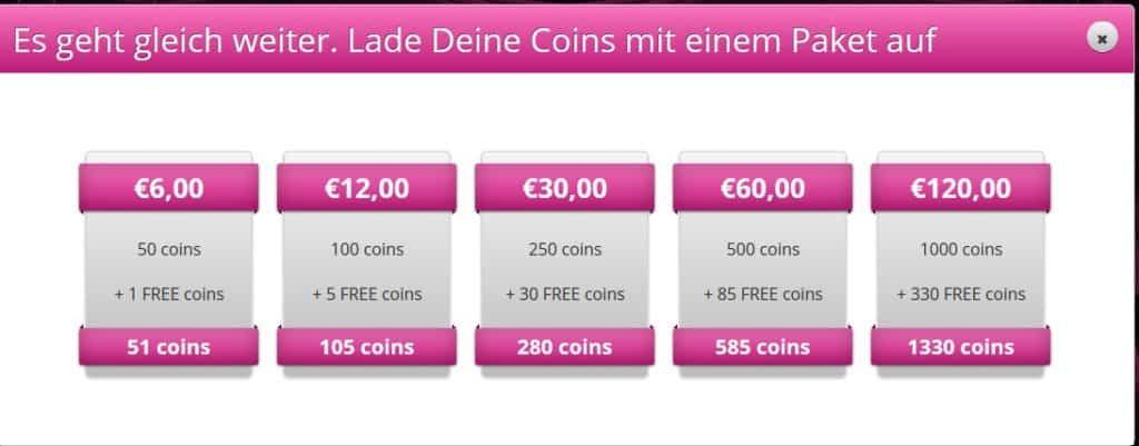 Die Preise von My-Sexy-Point.com