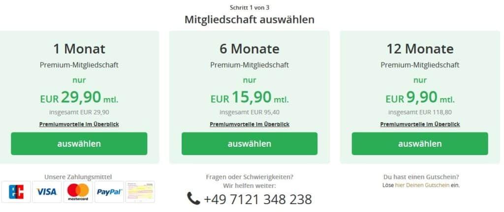 Die Preise von Seikeinfrosch.de
