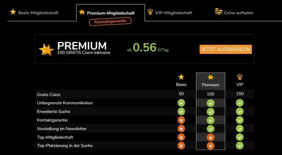 Die Preise von SeitensprungCity.com