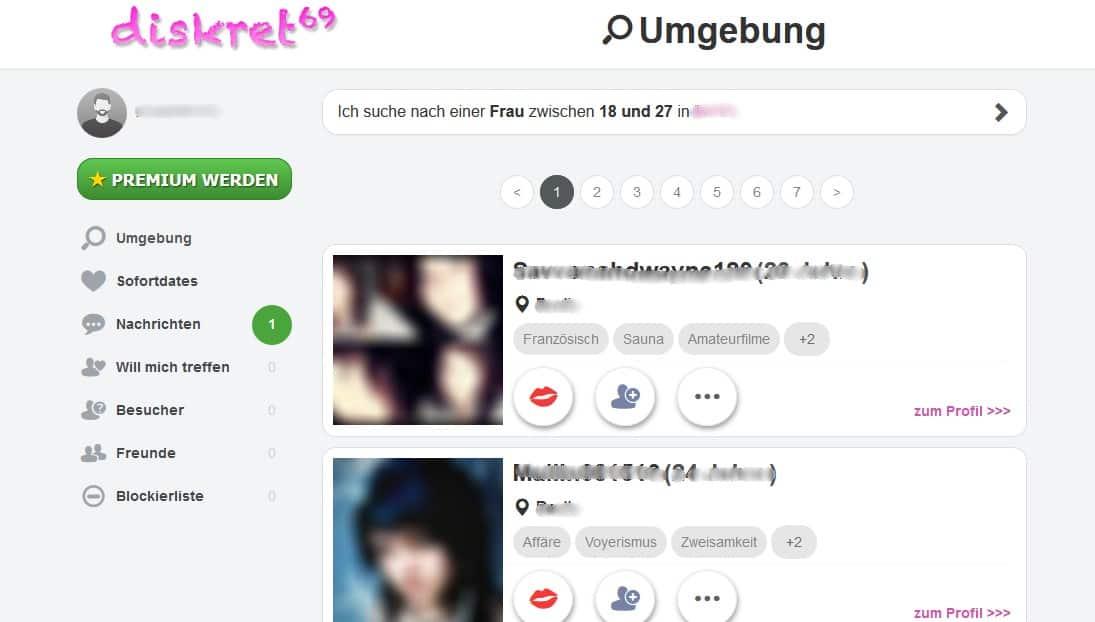 Diskret69.com - Mitgliederbereich