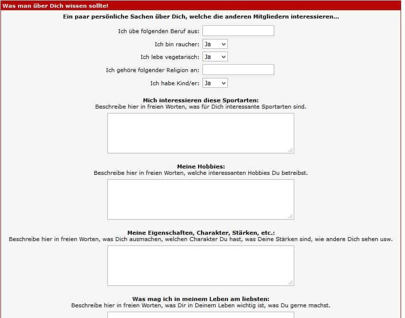 Ein Profil auf SingleExpress.de erstellen