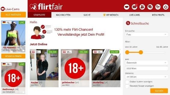 FlirtFair.at - Der Mitgliederbereich
