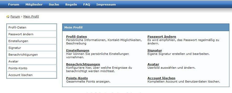 Mitgliederbereich auf Kurschatten.org