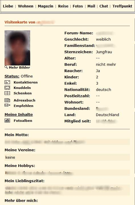 Profil anlegen auf Forum-fuer-Senioren.de