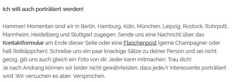 Profil anlegen bei ImGegenteil.de