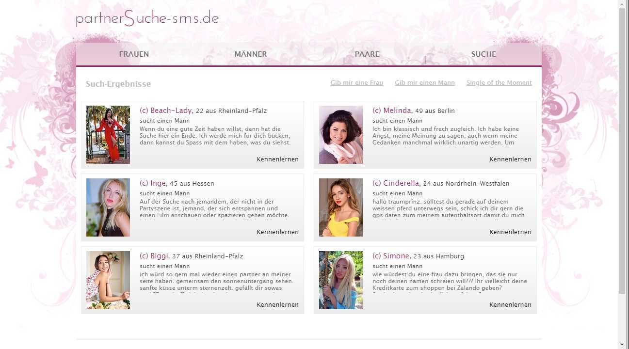 Testbericht: Partnersuche-SMS.de