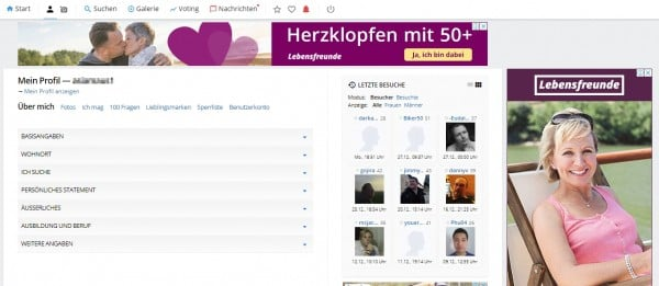 Finya.de - mein Benutzerkonto