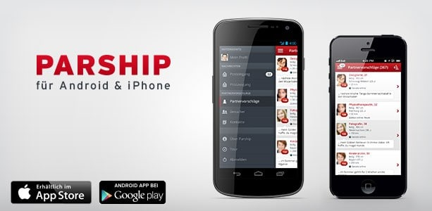 Die App von GayParship im AppStore und bei GooglePlay