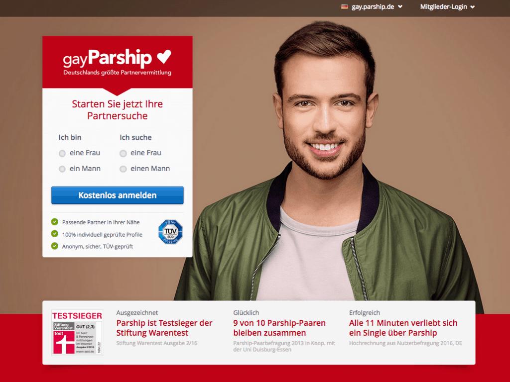 Die GayParship Webseite