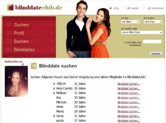 BlinddateClub.de - Mitgliederbereich
