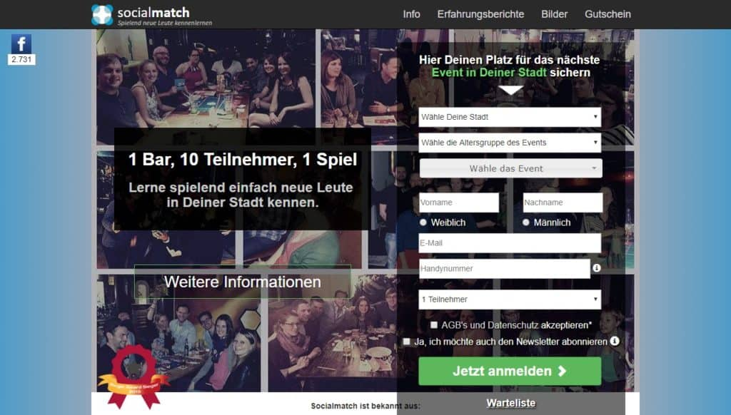 Testbericht: SocialMatch.de