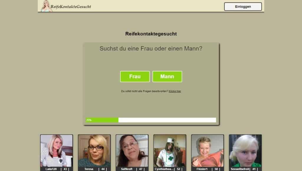 Testbericht: ReifeDatesGesucht.com