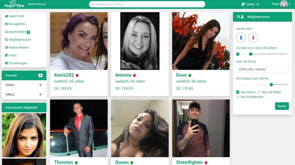 Perfect-Flirts.net - Mitgliederbereich