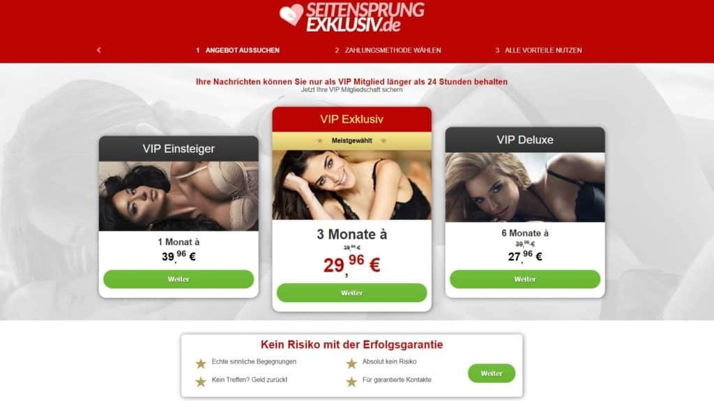 SeitensprungExklusiv.de Kosten